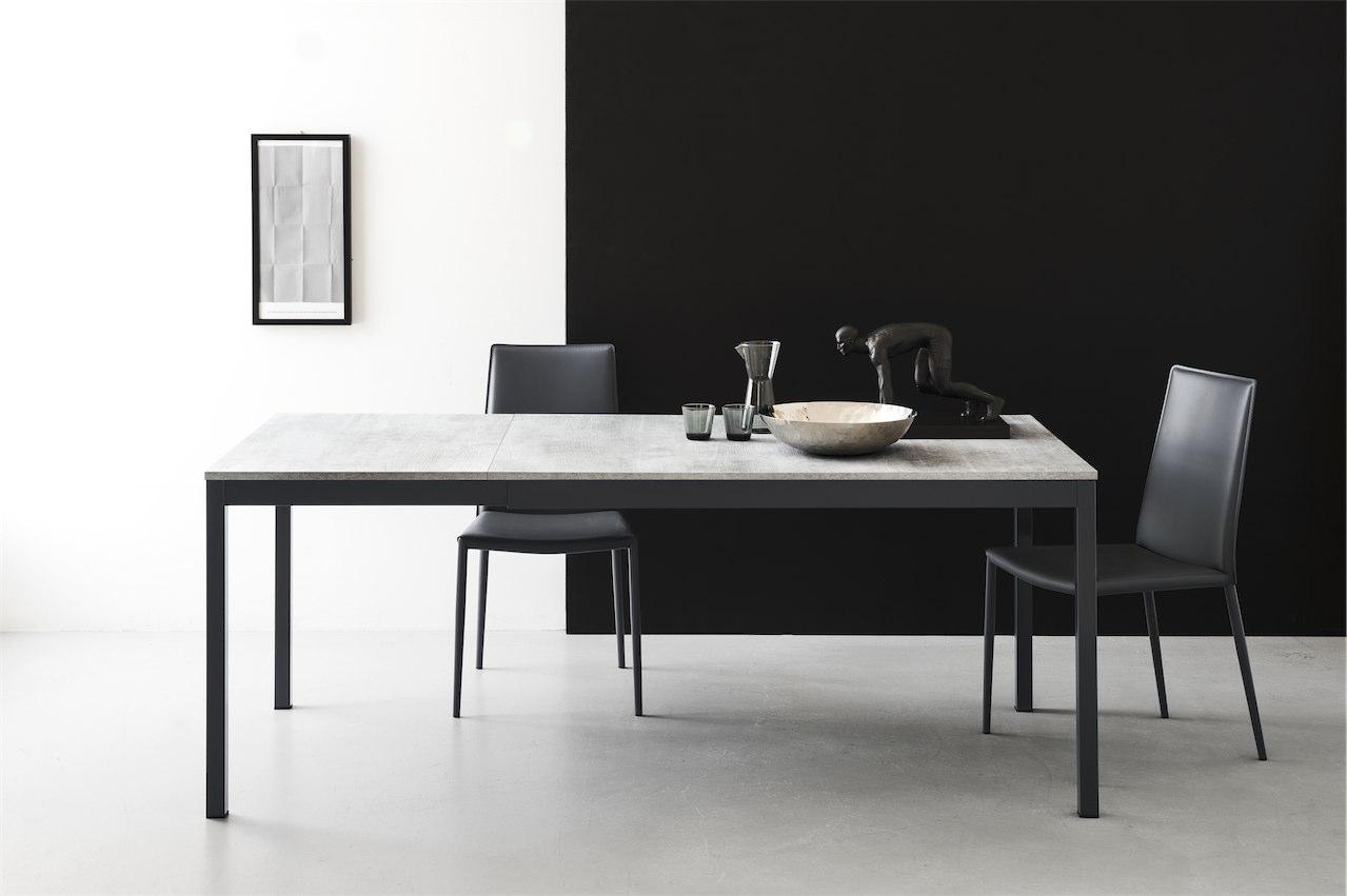 Snap tavolo allungabile connubia calligaris in metallo e for Calligaris tavoli allungabili legno