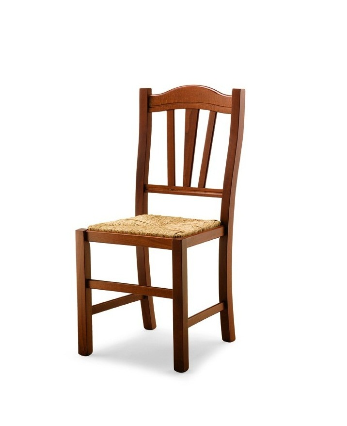 Sedie In Legno Rustiche.Silvana Sedia Rustica In Legno E Paglia Vari Colori