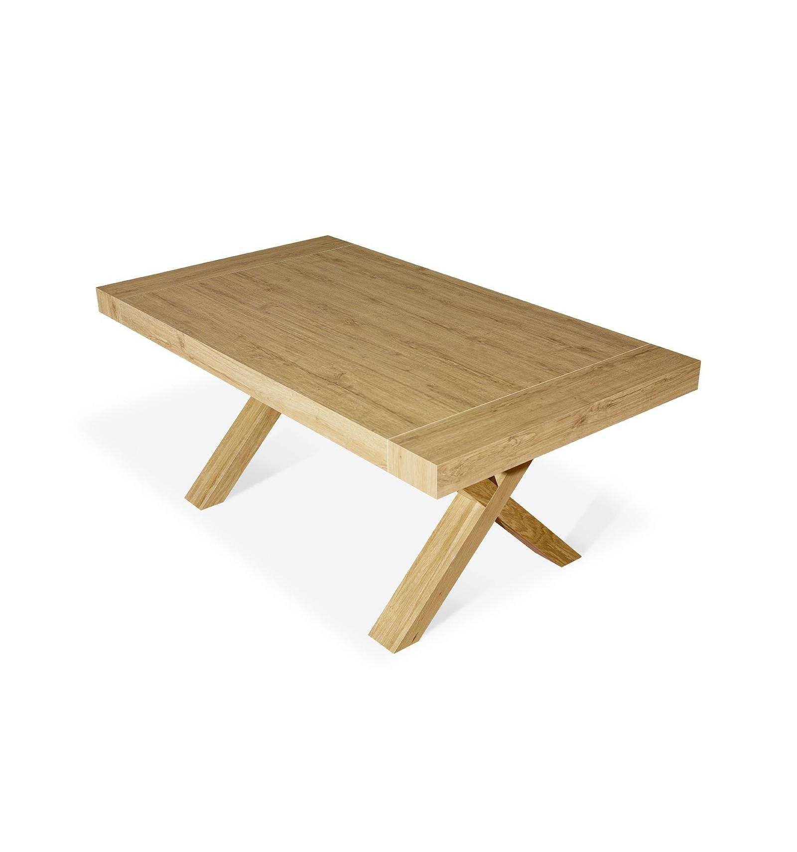 Ics | Tavolo allungabile in legno con base a X | InSedia: Sedie ...