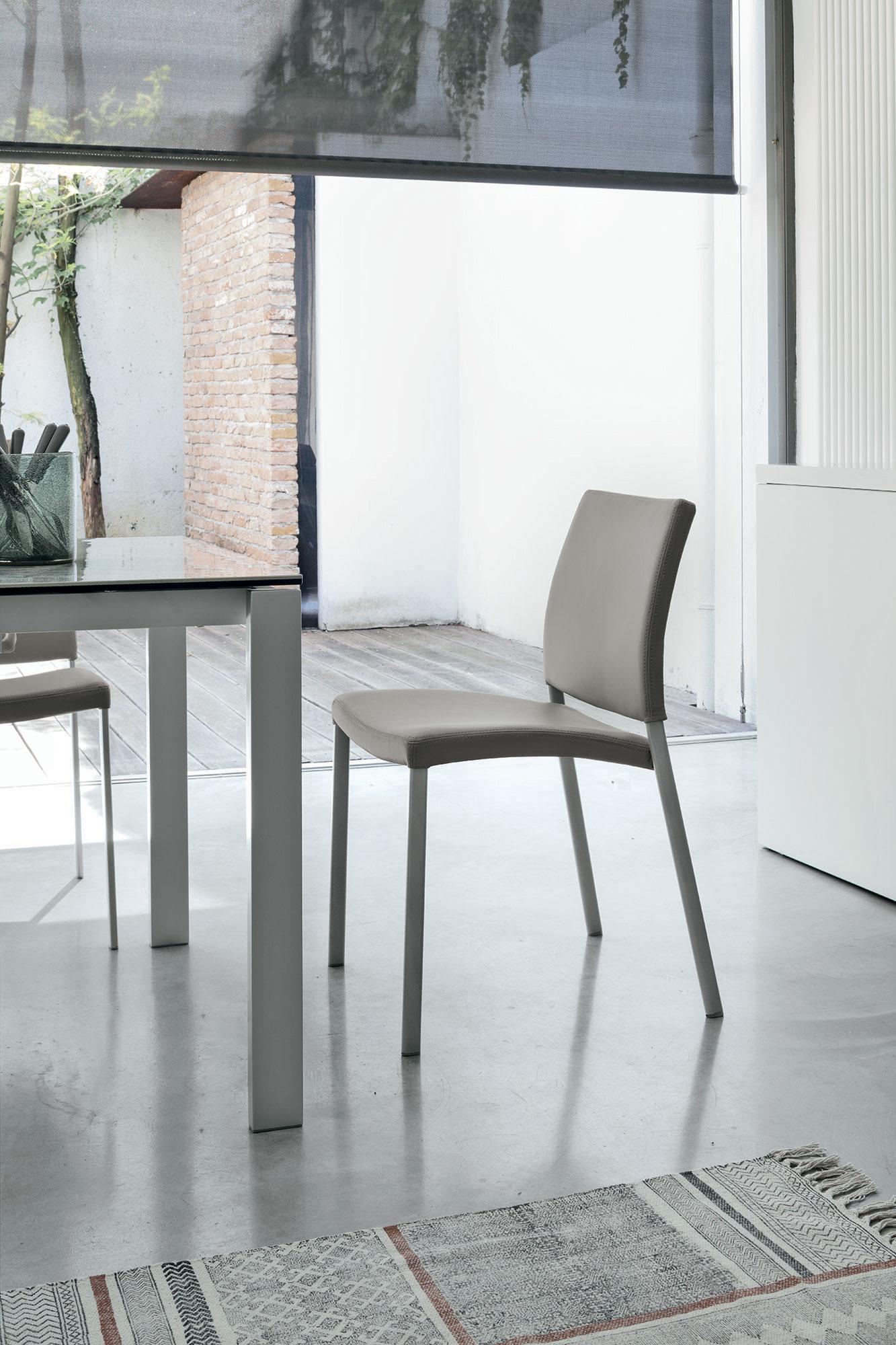Zara | Sedia Target Point in metallo e ecopelle | InSedia: Sedie ...