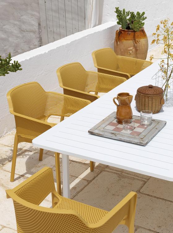 Sedie Tavoli Da Esterno.Alloro Tavolo Da Esterno Allungabile In Alluminio E Polipropilene