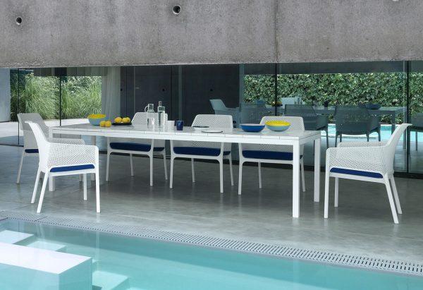 Tavoli Da Giardino Nardi.Rio Tavolo Nardi Da Esterno Allungabile In Alluminio E