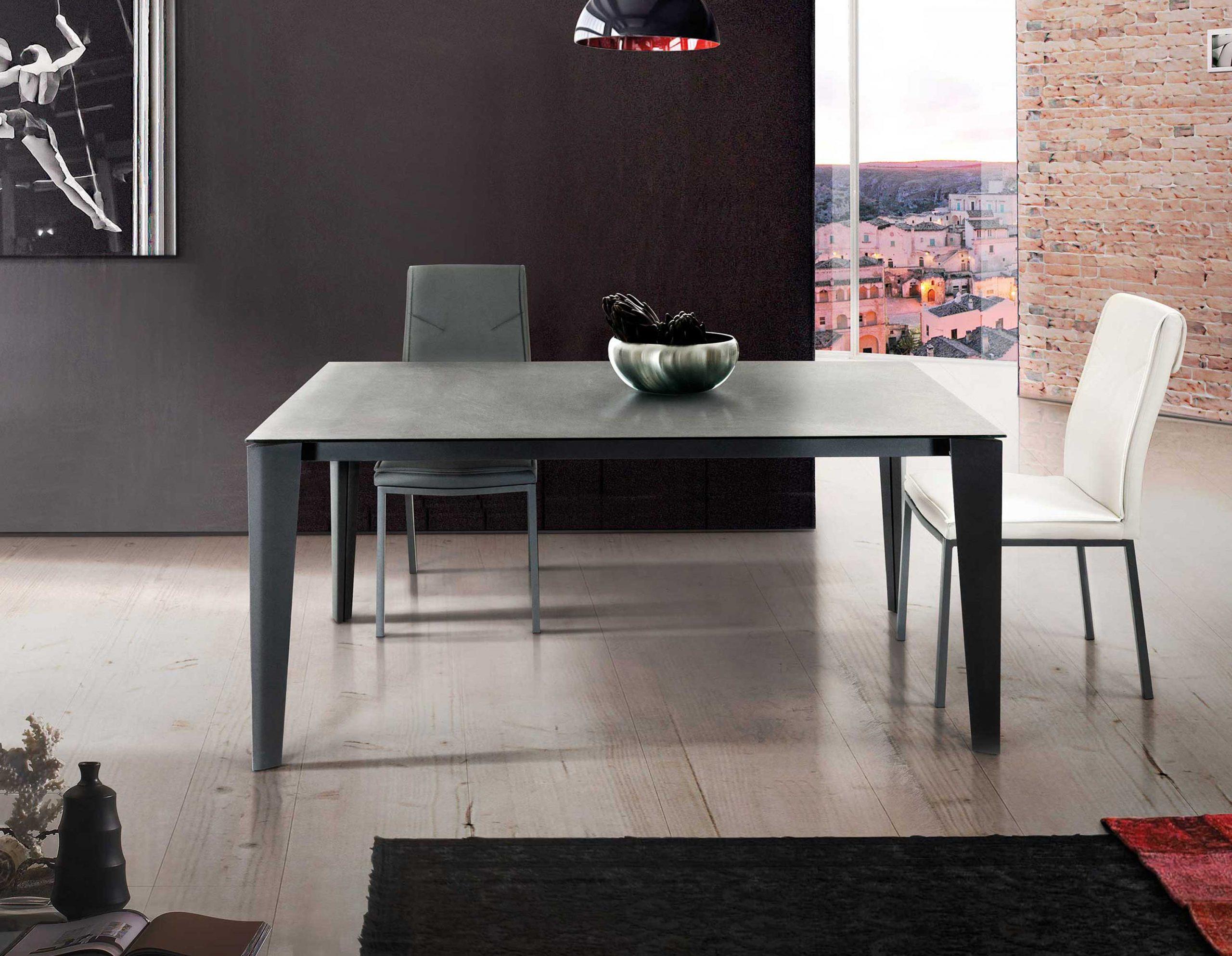 Target Tavolo Allungabile In Metallo E Vetro Insedia It Sedie Tavoli E Arredamento Vendita Online
