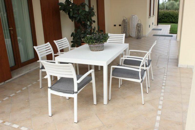 Milo | Tavolo da esterno in alluminio verniciato | InSedia ...